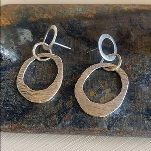 Silpada Post Brushed Silver Earrings
